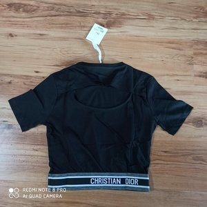 Black Color Dior Tee For Women